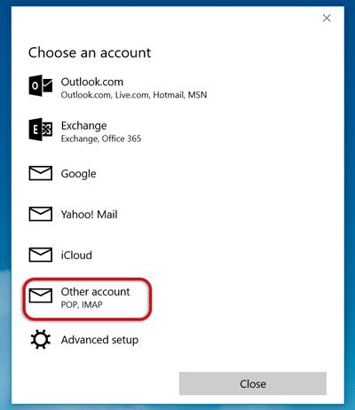 Windows 10 Mail setup - Knowledgebase - Creative Natives